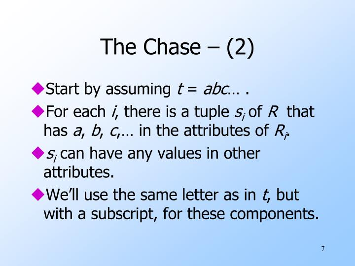 The Chase – (2)