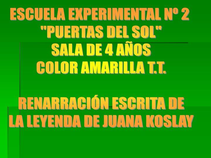 ESCUELA EXPERIMENTAL Nº 2