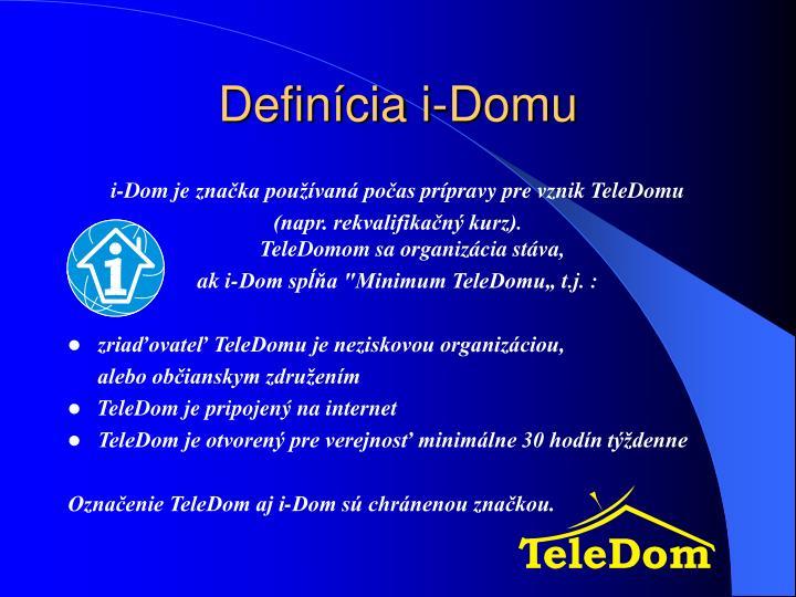 Definícia i-Domu