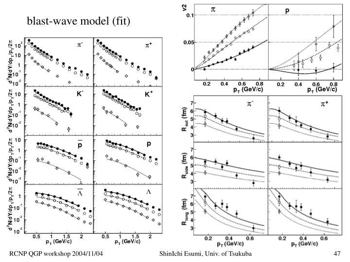 blast-wave model (fit)