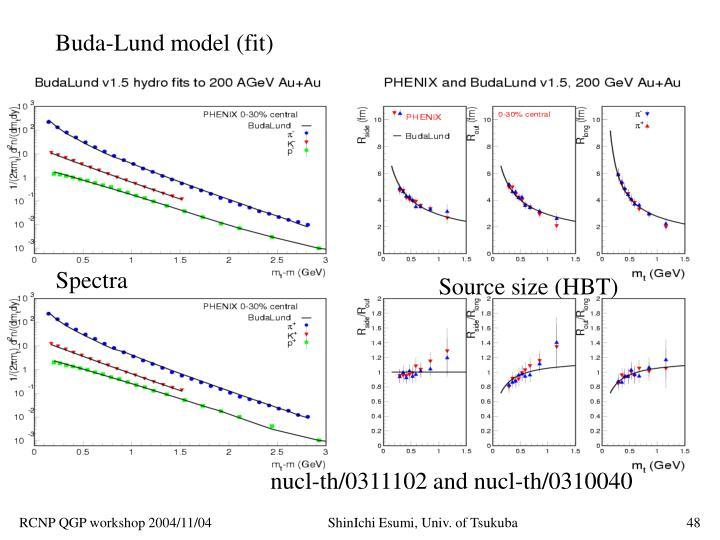 Buda-Lund model (fit)