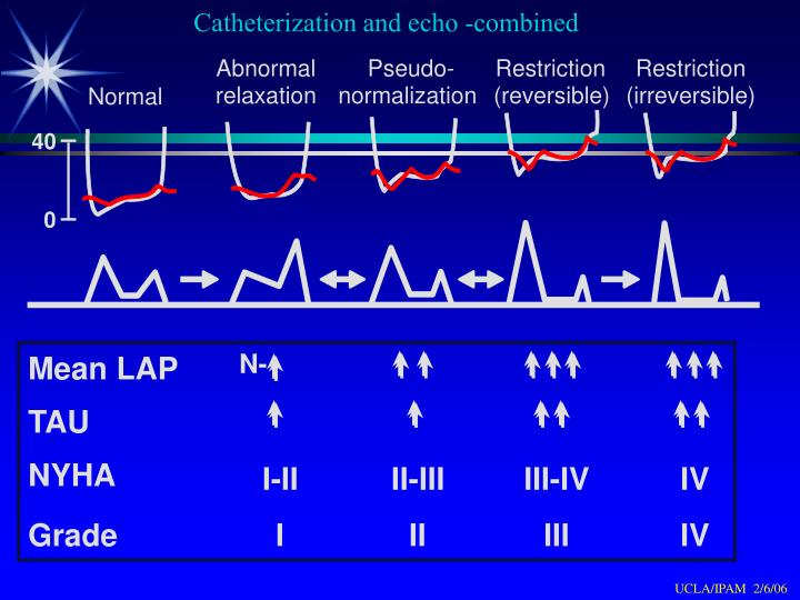 Catheterization and echo -combined