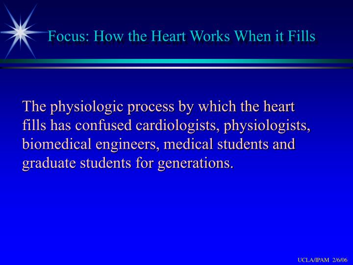 Focus: How the Heart Works When it Fills
