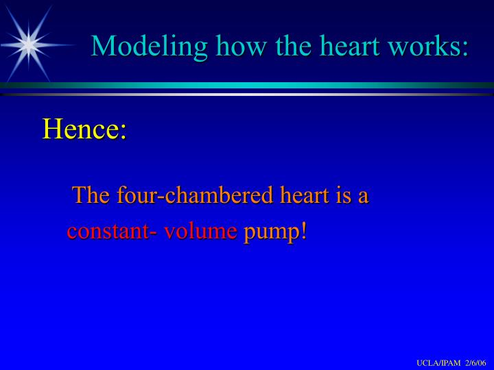 Modeling how the heart works: