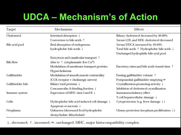 UDCA – Mechanism's of Action