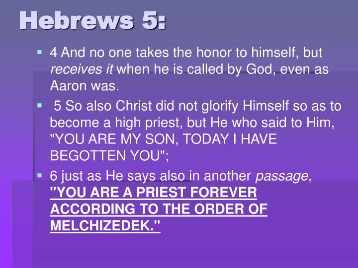 Hebrews 5: