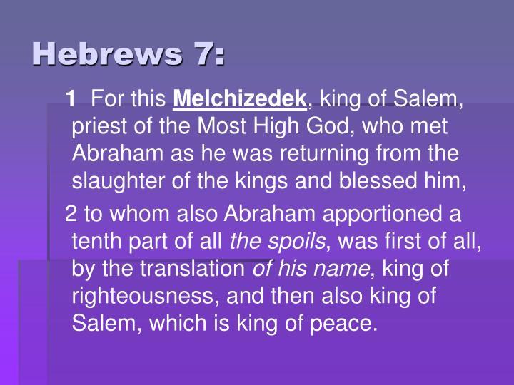 Hebrews 7: