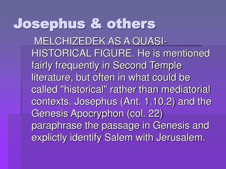Josephus & others