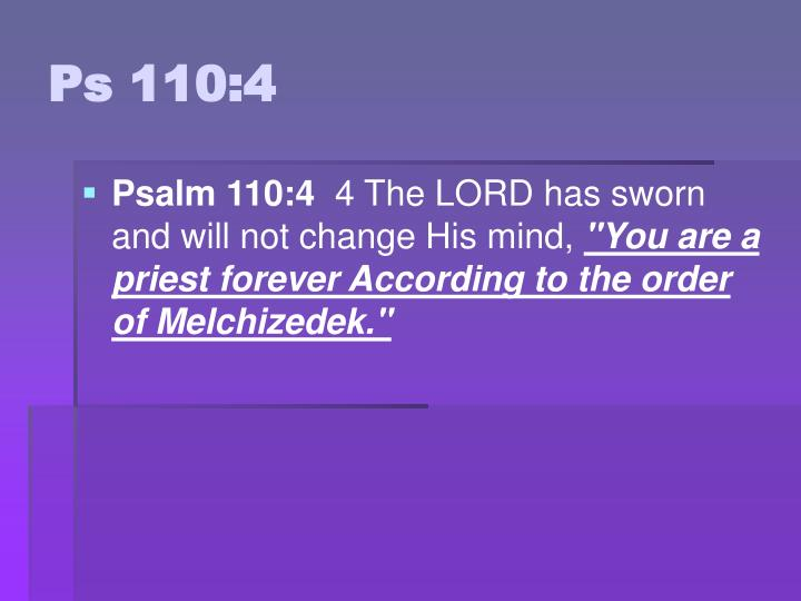 Ps 110:4