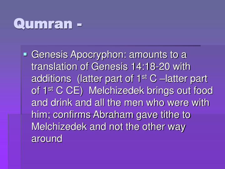 Qumran -