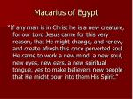 macarius of egypt
