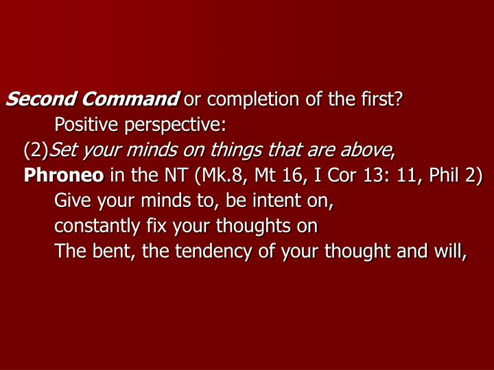 Second Command