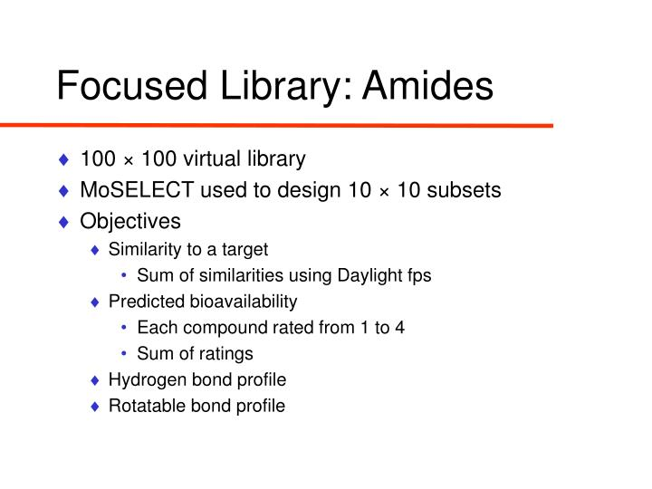 Focused Library: Amides