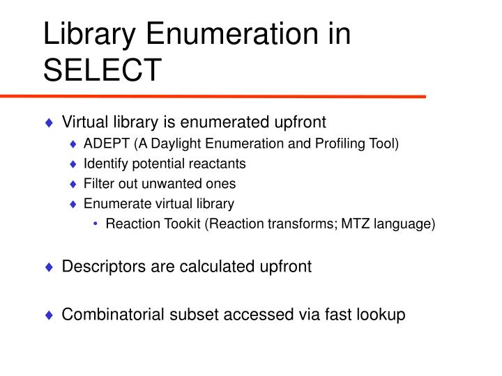 Library Enumeration in SELECT