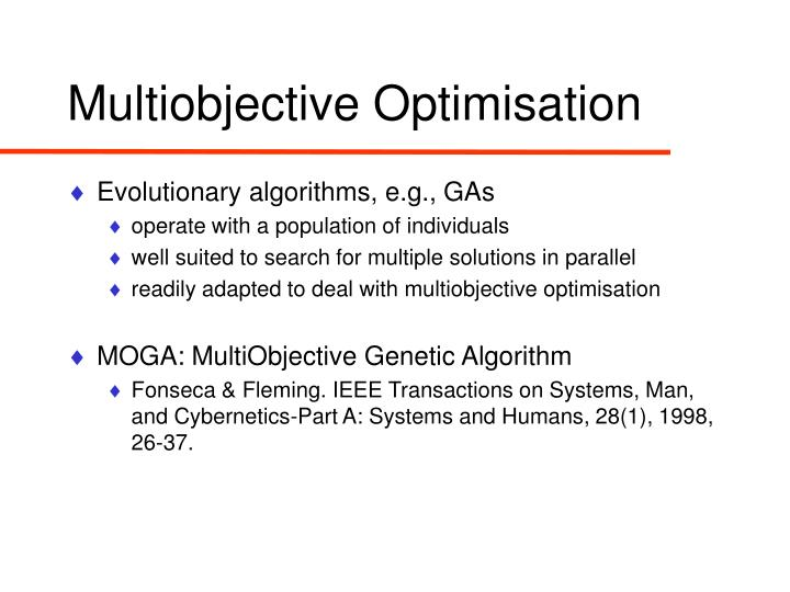 Multiobjective Optimisation