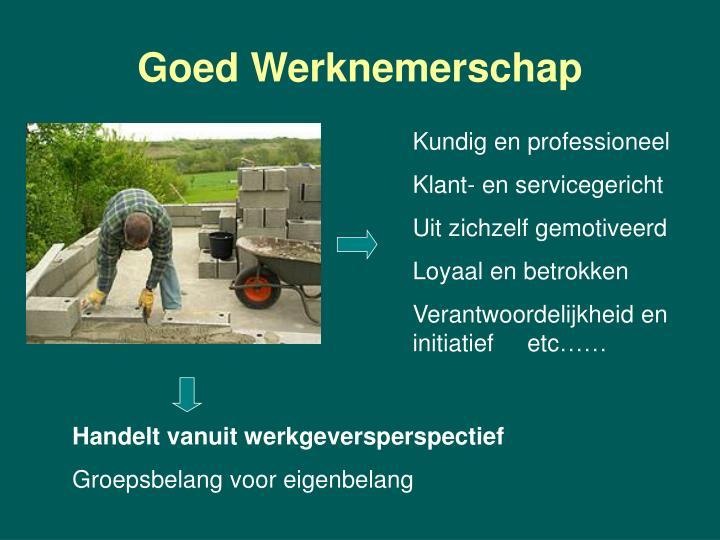Goed Werknemerschap