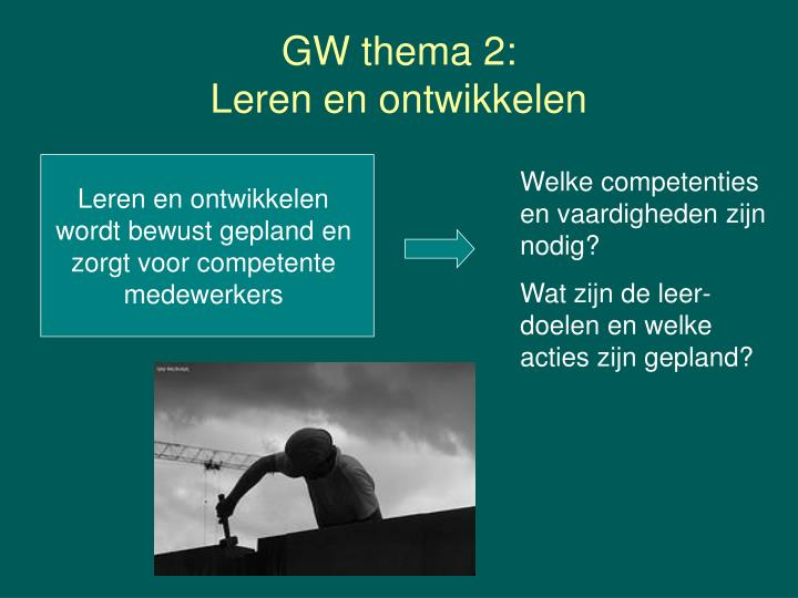 GW thema 2: