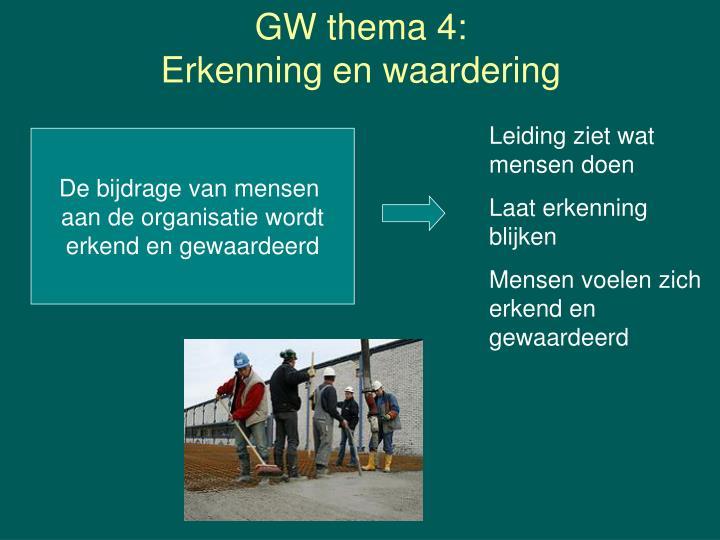 GW thema 4: