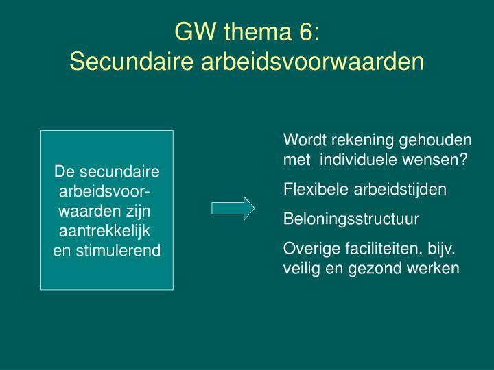 GW thema 6:
