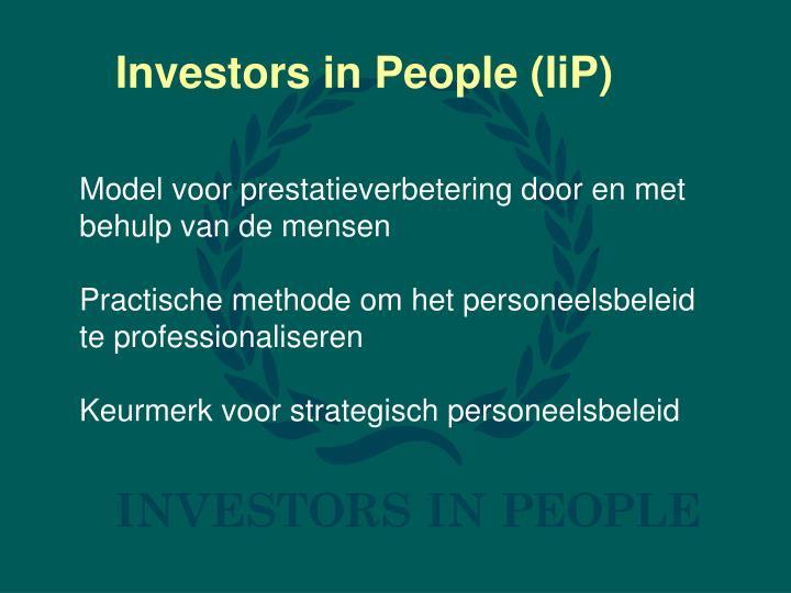 Investors in People (IiP)