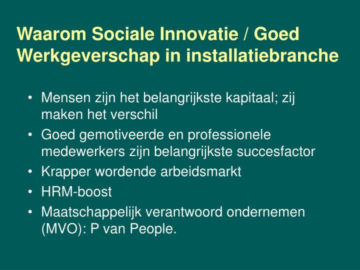 Waarom Sociale Innovatie / Goed
