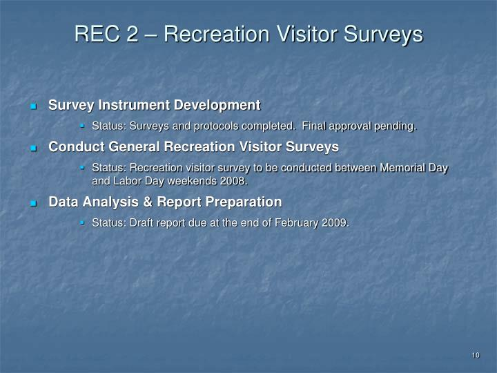 REC 2 – Recreation Visitor Surveys