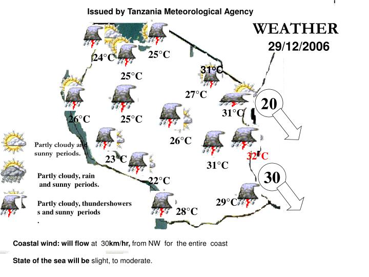 Issued by Tanzania Meteorological Agency