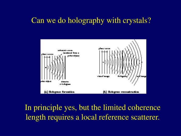 Can we do holography with crystals?