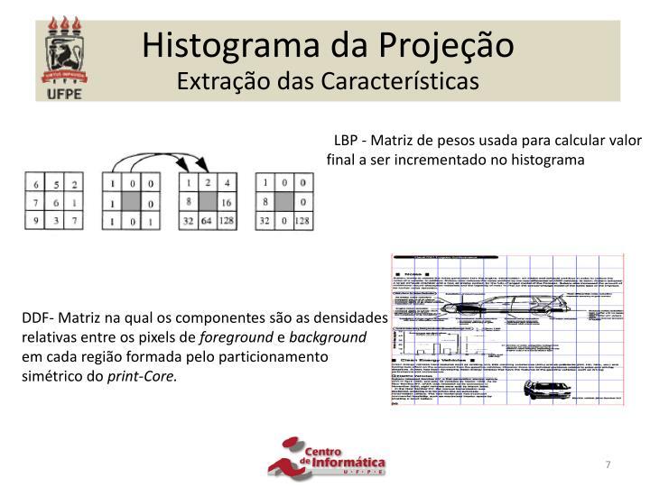 Histograma da Projeção