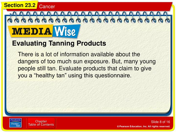 Evaluating Tanning Products