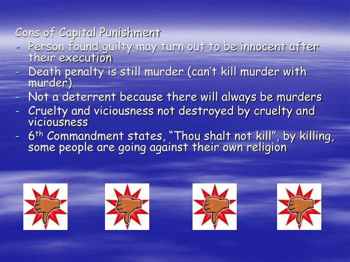 Cons of Capital Punishment
