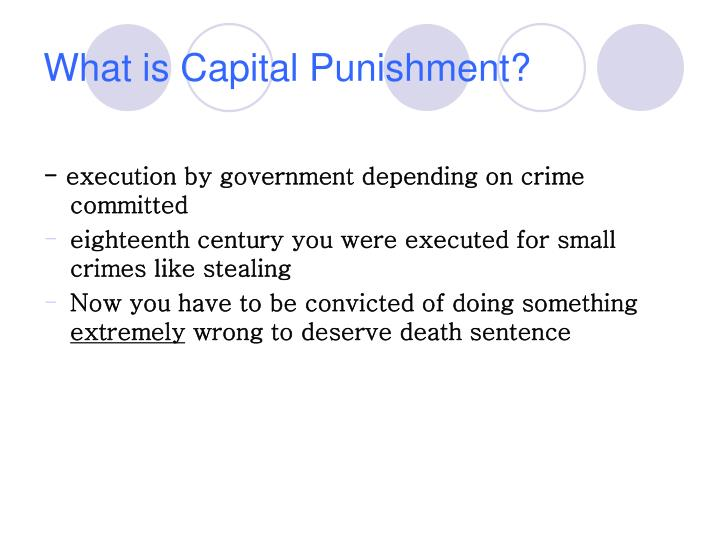 What is Capital Punishment?