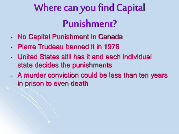 Where can you find Capital Punishment?