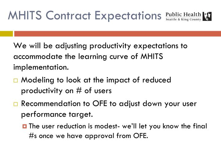 MHITS Contract Expectations