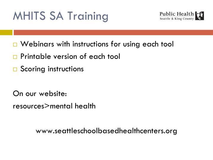 MHITS SA Training