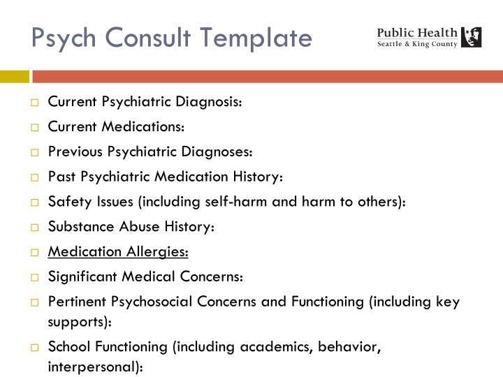 Psych Consult Template
