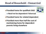 head of household unmarried