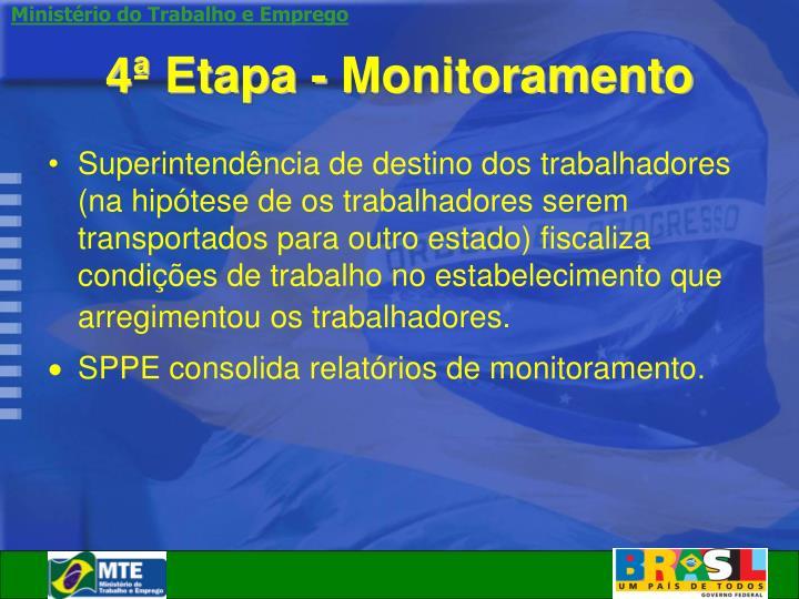 4ª Etapa - Monitoramento