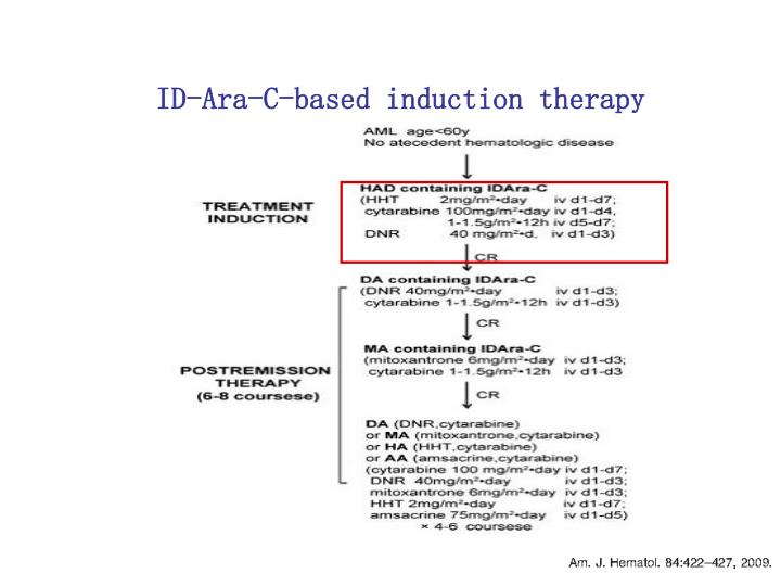 ID-Ara-C-based induction therapy