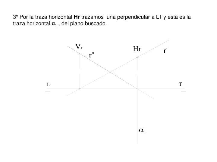 3º Por la traza horizontal