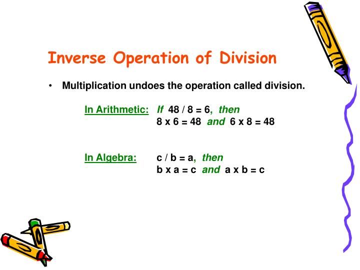 Inverse Operation of Division