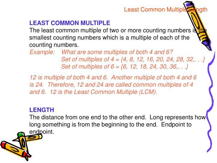 Least Common Multiple/Length