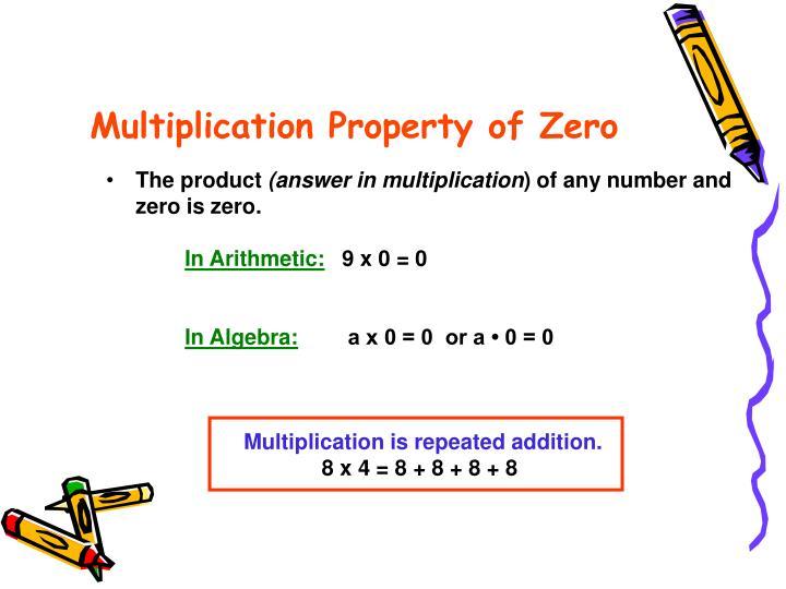 Multiplication Property of Zero