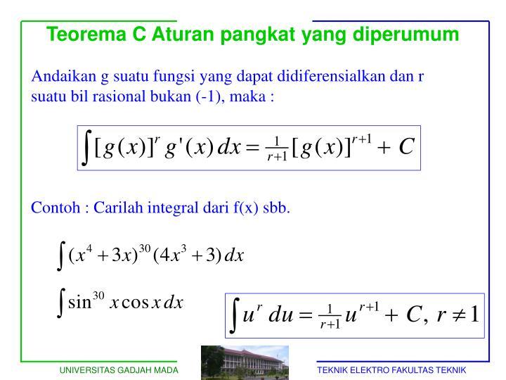 Teorema C Aturan pangkat yang diperumum
