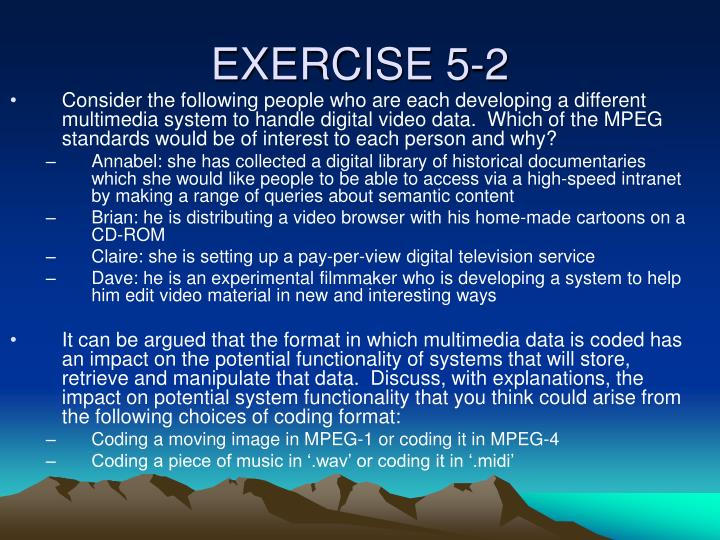 EXERCISE 5-2