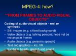 mpeg 4 how
