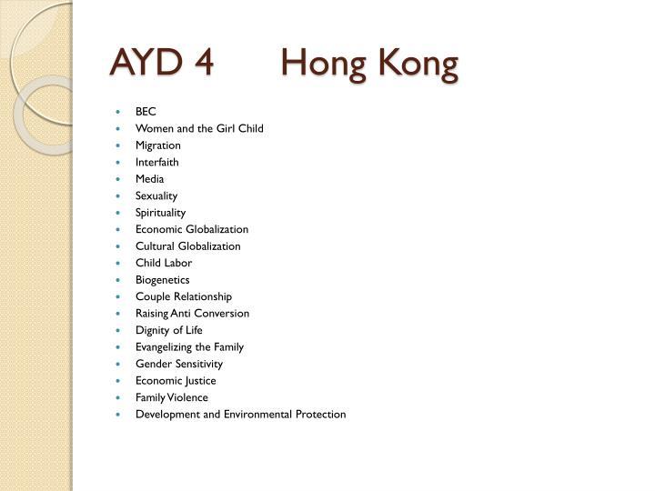 AYD 4      Hong Kong