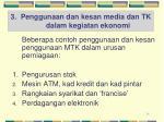 3 penggunaan dan kesan media dan tk dalam kegiatan ekonomi