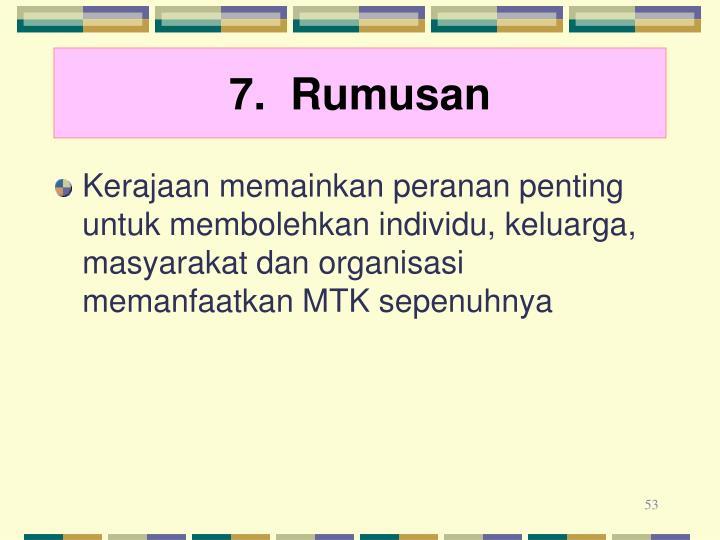 7.  Rumusan