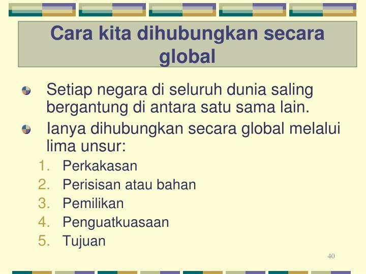Cara kita dihubungkan secara global